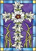 Stained Glass Lilies Easter Garden Flag Religious Jeremiah Junction 12