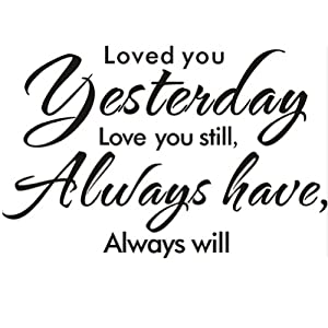 Amazon.com - Loved You Yesterday Love You Still Always Have Always ...
