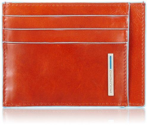 Piquadro PP2762B2 Bustina- Collezione Blu Square, Arancione