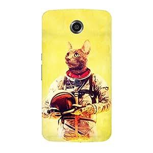 Back cover for Moto E (1st Gen) Astronut Cat