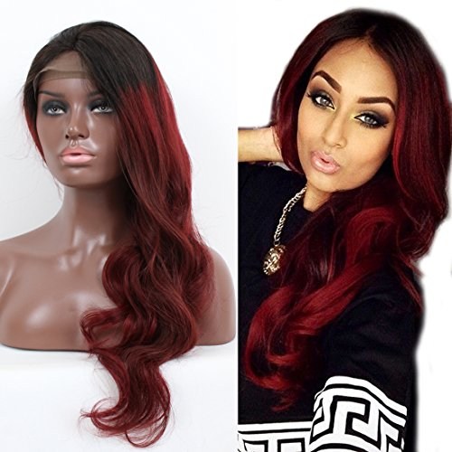 red lace front body wave human hair per cken brazilian hair per cken 130 denisity f r schwarz. Black Bedroom Furniture Sets. Home Design Ideas