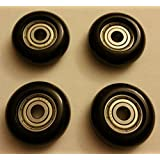 Total Gym Replacement Set of 4 Wheels/rollers for Models 2000, 3000, and More