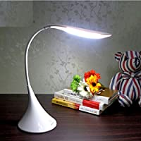 Novo(TM) Creative & Elegant Swan Shape Flexible Bedside Table Lamp LED Rechargeable Reading Desk Light Rechargeable Desk lamp +UK AC adapter by Novo