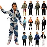 Barwa 3 Sets Fashion Long Sleeve Shirt Outfit Clothes With Trousers For Barbie's Boy Friend Ken Doll