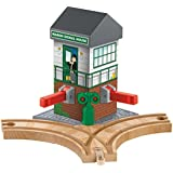 Fisher-Price Thomas the Train Wooden Railway Maron Lights and Sounds Signal Shed