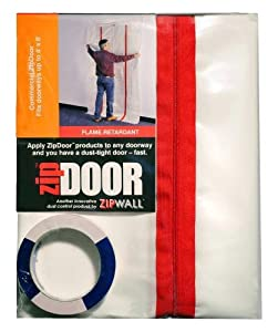 ZIPWALL ZDC Zip Door Commercial Doorway Dust Containment Kit from ZIPWALL