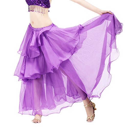 Pilot-trade Lady's Lady Belly Dance Costume Hot Spiral 3 Layer Circle Skirts