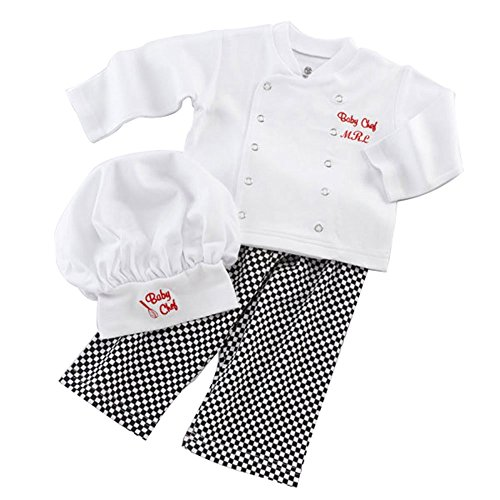 [FOONEE Baby Kids Chef Cook Outfit Cute Halloween Costumes] (Baby Chef Costumes)