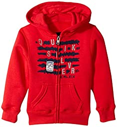 Quiksilver Little Boys\' Scrambled Hoodie Todd, Quick Red, 2T