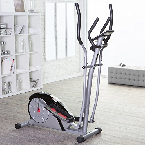 Body Champ Body Champ BR2890 Magnetic Elliptical Trainer, White/Black, Metal
