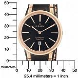 Edox Men's 27030 357RN NIR Les Bemonts Round Ultra Slim Watch