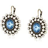 """Betsey Johnson """"Cameo Critters"""" Faceted Bead Faux Pearl Drop Earrings"""
