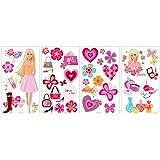 RoomMates RMK1158SCS Barbie Deco Peel & Stick Wall Decals