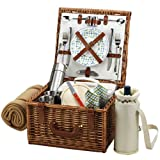 Picnic at Ascot Cheshire Basket for 2 with Coffee Set and Blanket, Gazebo