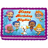 Bubble Guppies 1/4 Sheet Edible Photo Birthday Cake Topper. ~ Personalized!
