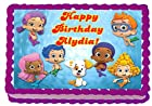 Bubble Guppies 1/4 Sheet Edible Photo Birthday Cake Topper. ~ Personalized!