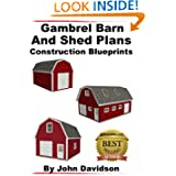 Gambrel Barn and Shed Plans Construction Blueprints (Gambrel Barn Plans)