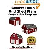 Gambrel Barn and Shed Plans Construction Blueprints (Gambrel Barn Plans)
