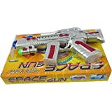 Softa Space Gun Toy With LED Matrix Flashing Rotating Blades (Color May Vary)