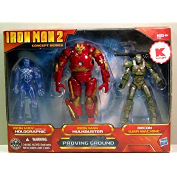Iron Man 2 – Movie Exclusive Concept Series – 4 Inch Action Figure – 3Pack / 3 Figuren : Proving Ground Holographic Mark VI, Hulkbuster Armor Recon War Machine bestellen