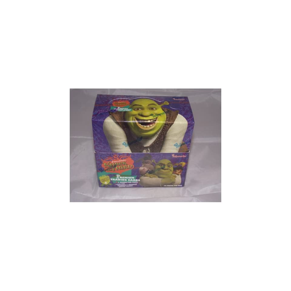 Shrek The Third Factory Sealed Trading Card Hobby Box 36 Packs  Toys