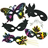 Carnival Scratch Art Masks (Pack of 10)