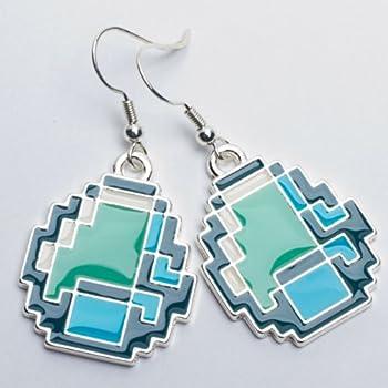 Minecraft Diamond-shaped Womens Dangle Earrings from J!NX