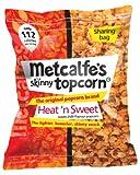 Metcalfe's skinny topcorn, Heat 'n Sweet flavour, 8x sharing bags (75g each)