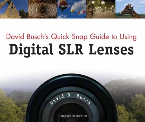 David Busch's Quick Snap Guide to Using Digital SLR Lenses 1598634550 pdf