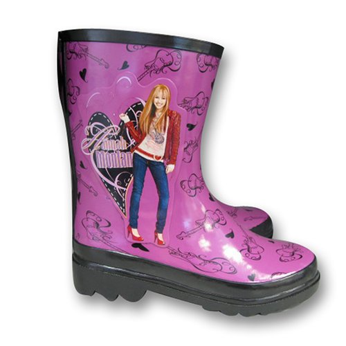 Disney Hannah Montana Girl's Purple Rain Boots
