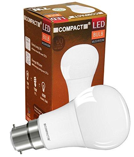7W B22 Mushroom LED Bulb (Cool White)