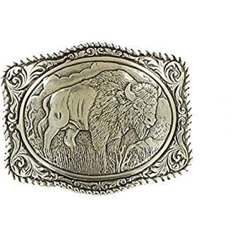 Crumrine Men's Vintage Buffalo Belt Buckle - 38058