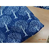 Handicraftofpinkcity Indian Blue Print Hand Block Print Tree Of Life Cotton Fabric Indigo Dabu Print Cotton Fabric...