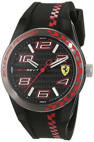 Scuderia Ferrari Orologi uomo-Orologio da polso al quarzo in silicone REDREV P 0830336
