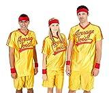 Dodgeball Average Joes Adult Yellow Jersey Costume Set