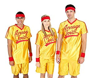 Dodgeball Average Joe's Adult Yellow Jersey Costume Set (Adult XX-Large)