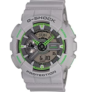 Casio Men's GA-110TS-8A3CR G-Shock Analog-Digital Display Quartz Grey Watch from Casio