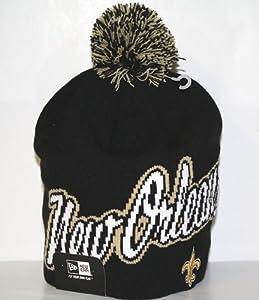 New Orleans Saints New Era NFL Script Freeze Cuffless Knit Hat