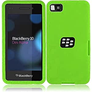 HR Wireless Blackberry Z10 Silicone Skin Cover - Retail Packaging - Neon Green