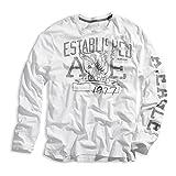 American Eagle・アメリカンイーグル ロングTシャツ ae260 (L, ホワイト)