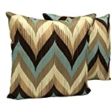 DKraft Smudge Chevron Cotton Cushion Cover(set Of 2pc) 16 X 16inch - B00XTWWYSC