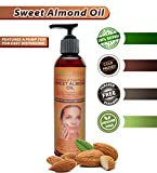 Sweet Almond Oil - All Natural, Cold Pressed, Paraben & Hexane-free 100% Pure Moisturizing Oil. FREE online Download of the many Uses and Benefits. So good for your face, skin and hair. Will not clog pores. Can be used alone to moisturize or in soaps, lotions, scrubs, bath and massage oils as well as aromatherapy. Makes a great carrier oil. Mixes well with Virgin Coconut, Tea Tree, Peppermint, Eucalyptus & Lavender Essential Oils. Promotes a healthier body by improving the complexion and delaying signs of aging. Reduces dark circles around the eyes. Soothes dry, flaky, and chapped areas. Minimizes hair frizz and enhances shine, plus more.