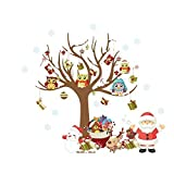 Mudder Wall Stickers Decals, Wall Art Stickers for Christmas, Home and Bedroom Decoration