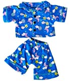 "Sunny Days Blue Pj's Teddy Bear Clothes Outfit Fits Most 14"" - 18"" Build-A-Bear, Vermont Teddy Bears, and Make Your Own Stuffed Animals"