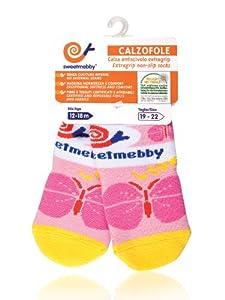 Mebby Calzofole Chaussettes pour Bébé - Papillon - 0 à 6 mois