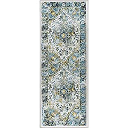Alise Expo Aubusson Blue/Beige Traditional-style Runner Rug (2\'7 x 7\'3)