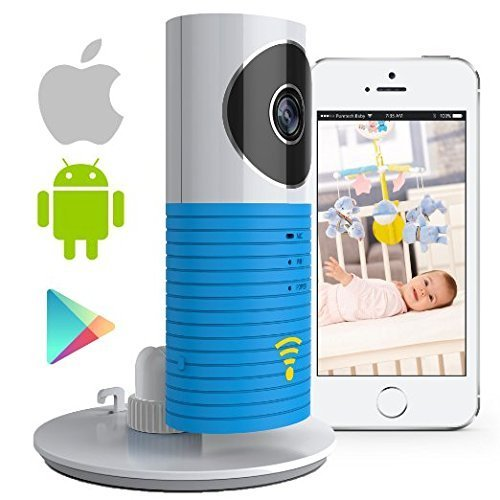 Video Baby Monitor Camera Compatible With iPhone & Android. Wifi Enabled Nanny Cam, 2 Way Talkback With Motion activated Cell Alerts. Baby Blue