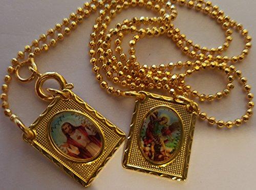 escapulario-cadena-rosario-del-arcangel-san-miguel-y-sagrado-corazon-de-oro