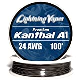 Genuine Lightning Vapes Kanthal 24 AWG A1 Wire 100ft Roll 0.51 mm 2.04 Ohms/ft Resistance