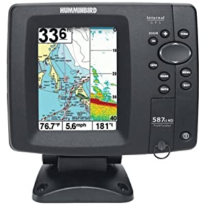 Humminbird 4084801  587ci HD Di Combo Dualbeam Fishfinder And Gps
